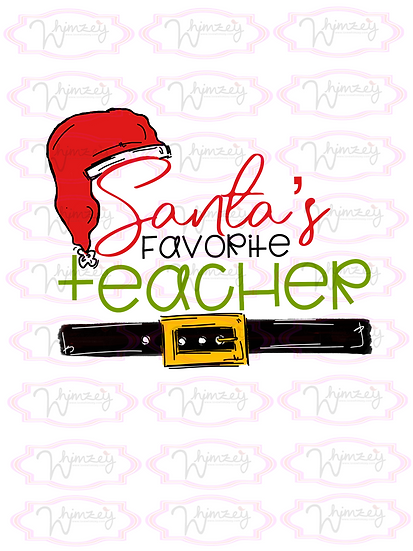 Digital Santas Favorite Teacher Download