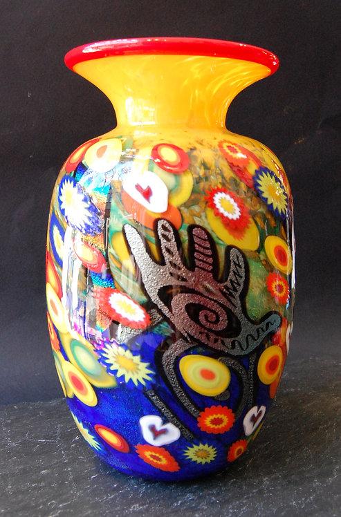 Mad Art Creative Hands Glass Vase