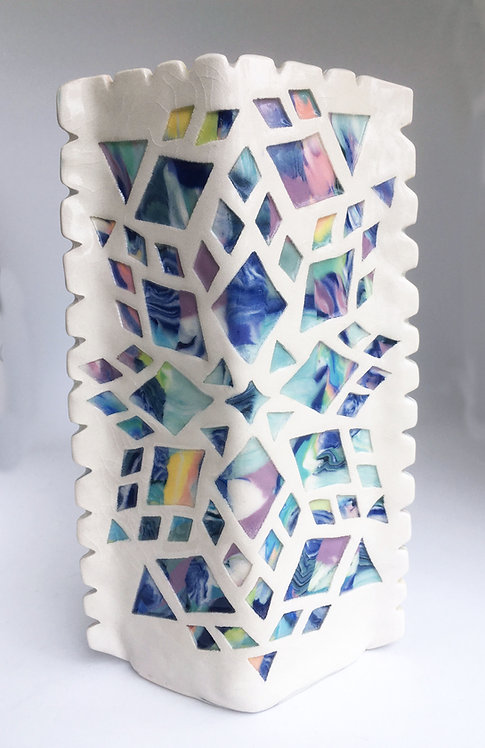 Barbara Cahn Porcelain Lozenge Vase