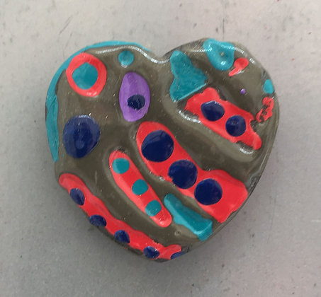 Galloway Painted Heart Magnets