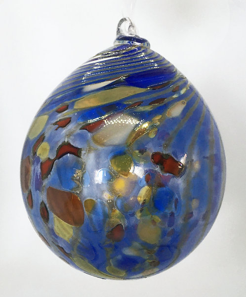 Eby Glass Large Stripe Ornament