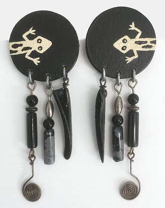 Corbett Lizard Petroglyph Earrings