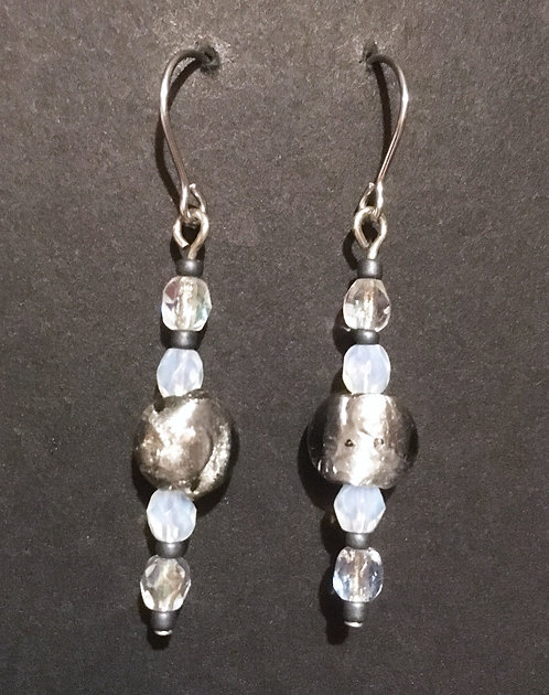 Galloway Foil Glass Earrings