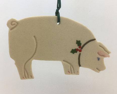 Tewksbury Porcelain Ornament - Pig