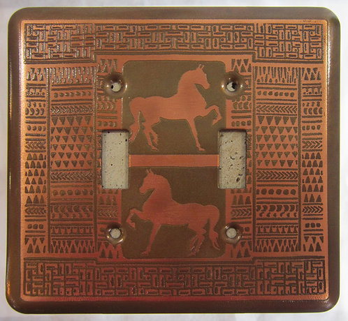 Loughran Double Switchplate - Horse