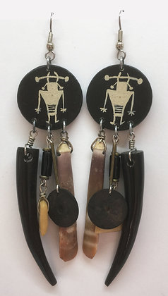 Corbett Supernatural Petroglyph Dangle Earrings
