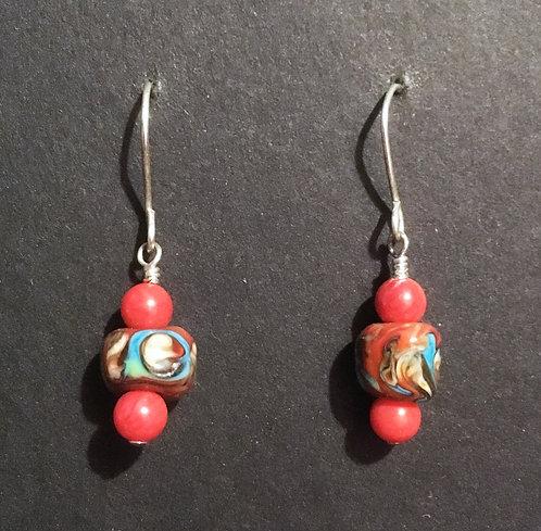 Galloway Lampworked Bead Earrings