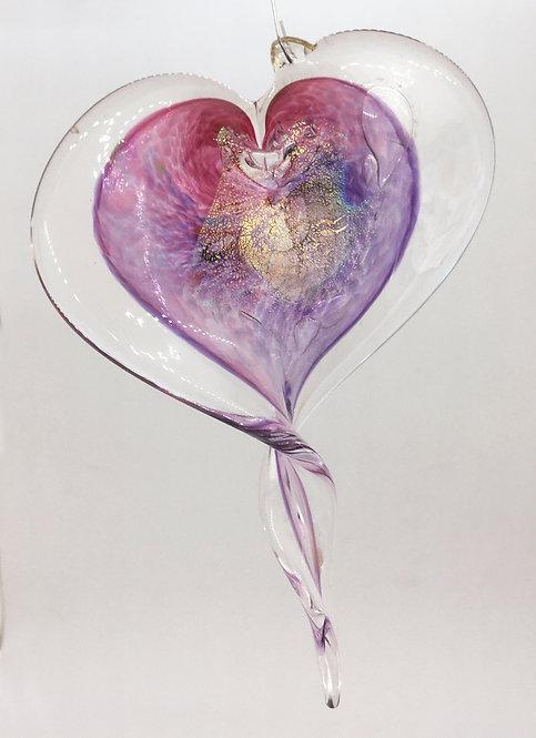 Luke Adams Glass Heart Ornament