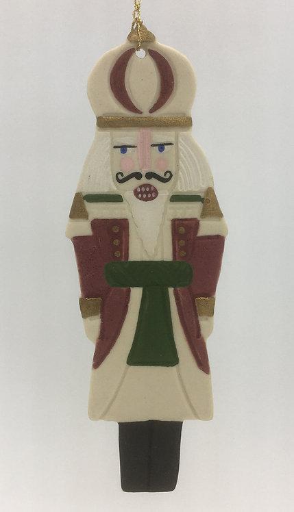 Tewksbury Porcelain Ornament - Nutcracker