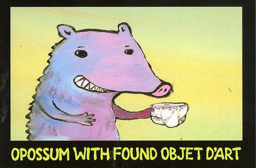 Paul Volker Small Art Reproduction -Opossum