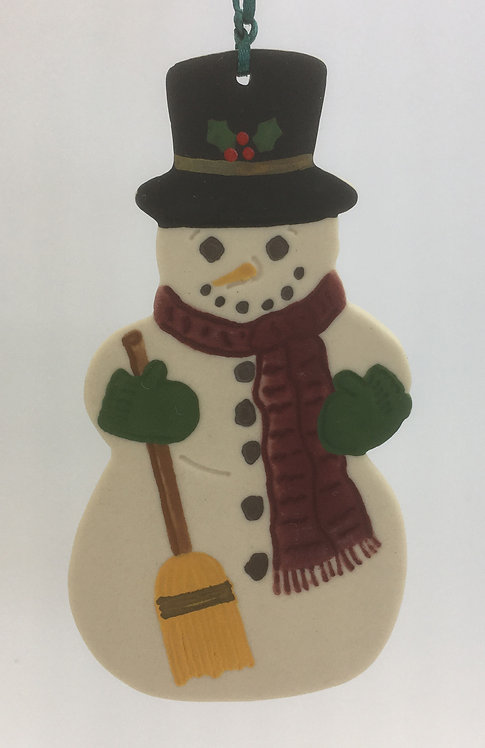 Tewksbury Porcelain Ornament - Snowman