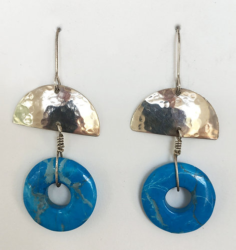 Corbett Sterling Silver and Turquoise Earrings