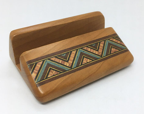 Heartwood Business Card Holder