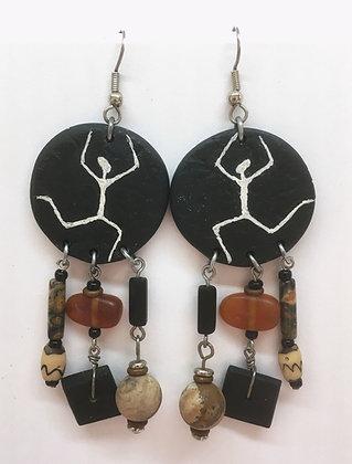 Corbett African Petroglyph Dangle Earrings