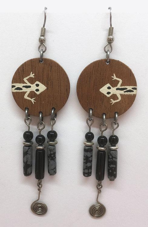 Corbett Lizard Petroglyph Dangle Earrings