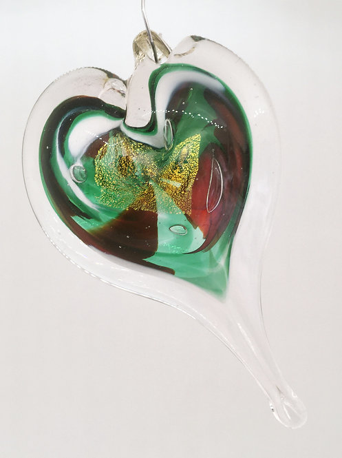 Luke Adams Glass Small Heart Ornaments