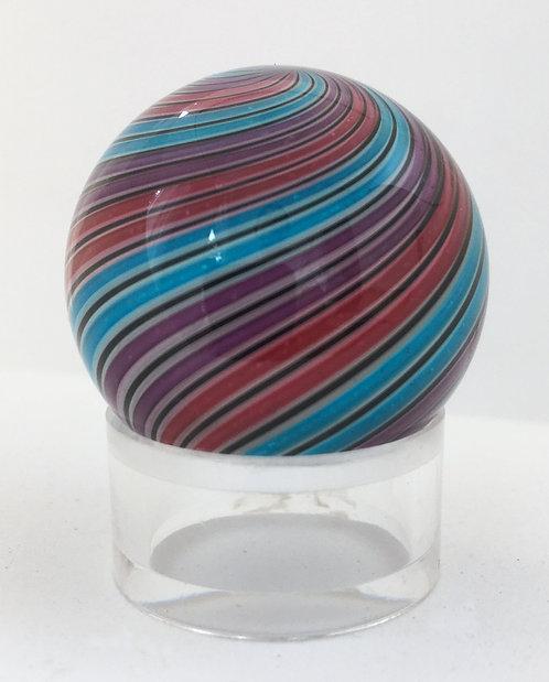 "Hot House Glass 1 3/16"" Dichroic Twist Marble"