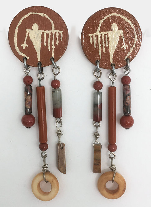 Corbett Supernatural Petroglyph Earrings and Pin