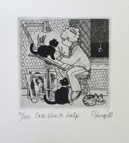Susan Sturgill - Cats Like to Help