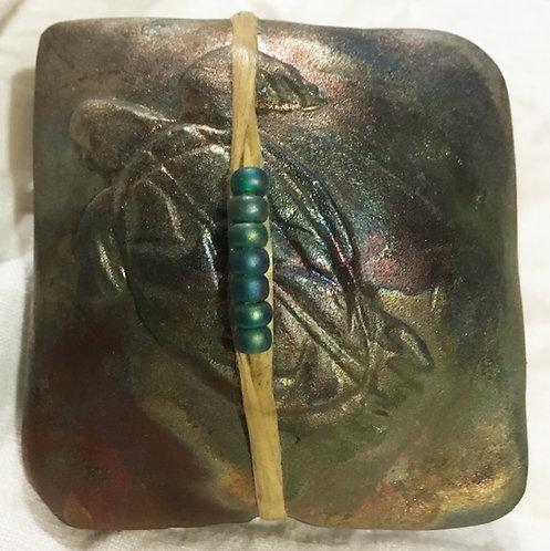 J. Davis Raku innerSpirit Rattle - Turtle