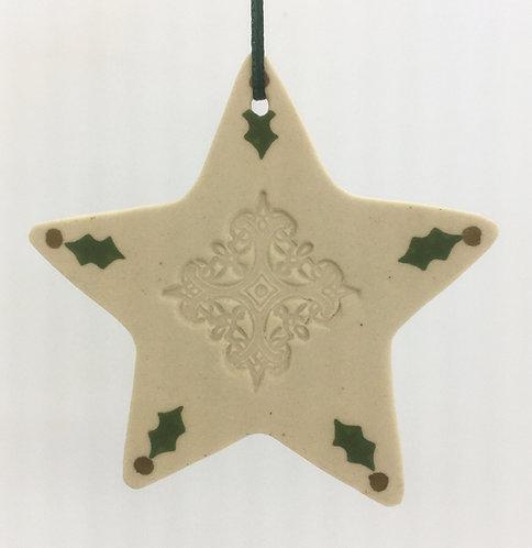 Tewksbury Porcelain Ornament - Star