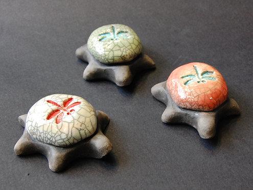 100 Horses Raku Dragonfly Turtles