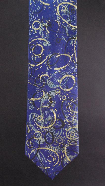 Jennythreads Silk Necktie - Dark Blue