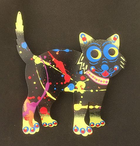 Graham Metal Art - Walking Cat Magnets
