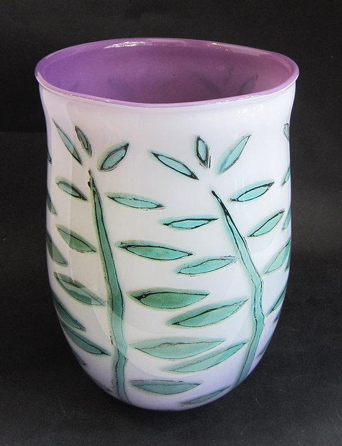 Beck Glass Vase - Leaf