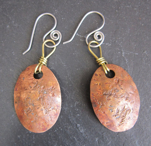 Currents Recycled Copper Earrings
