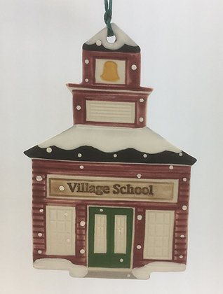 Tewksbury Porcelain Ornament - Village School