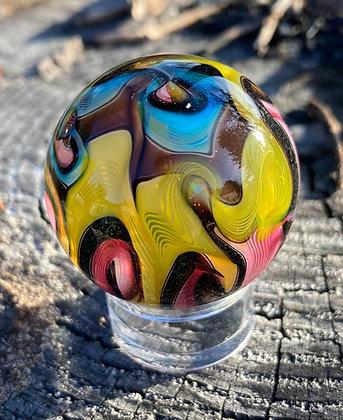 "Hot House Glass 1.5"" Lattice EOTD Marble"