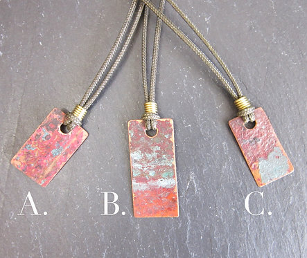 Currents Recycled Metal Pendants