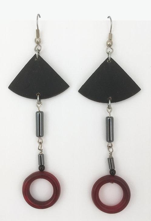 Corbett Hematite Dangle Earrings