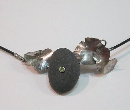 Flying Anvil Sterling Leaves Necklace