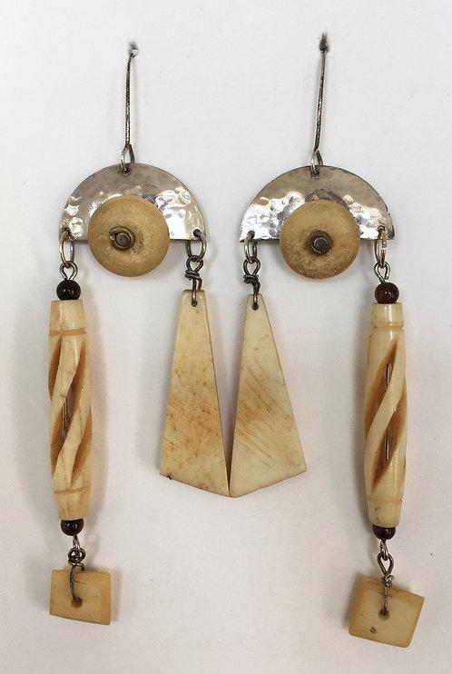 Corbett Sterling Silver and Bone Earrings