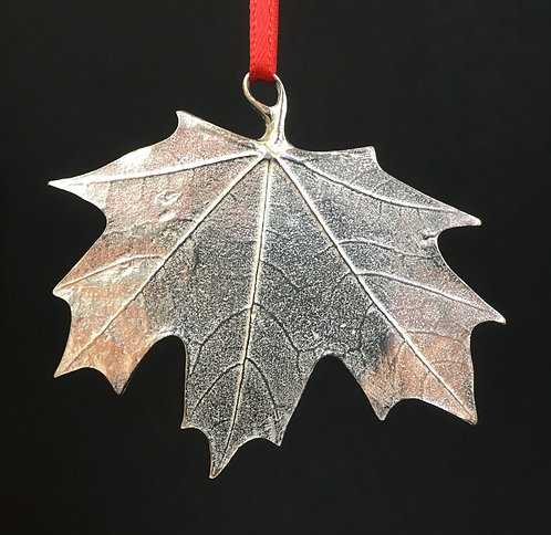 Vilmain Pewter Maple Leaf Ornaments