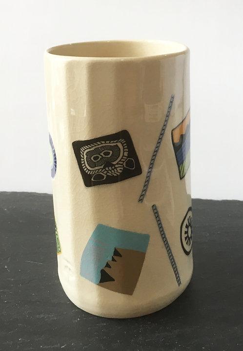 Ginko Porcelain Tall Tumbler