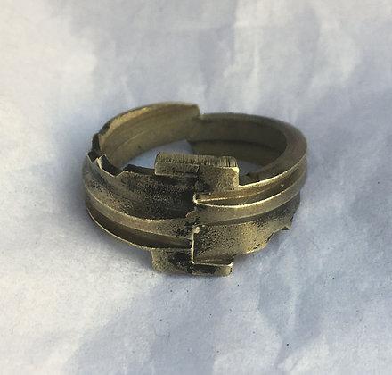 Eli Secrest Bronze Key Ring Size 9