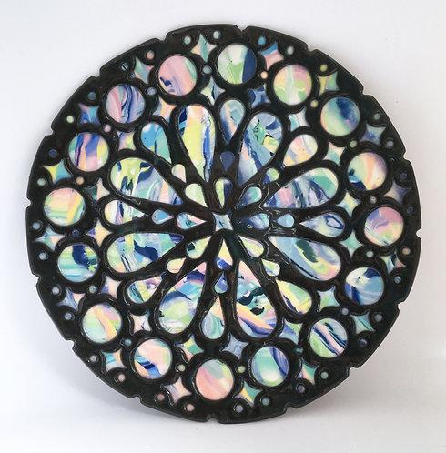 Barbara Cahn Porcelain Rose Window Plate