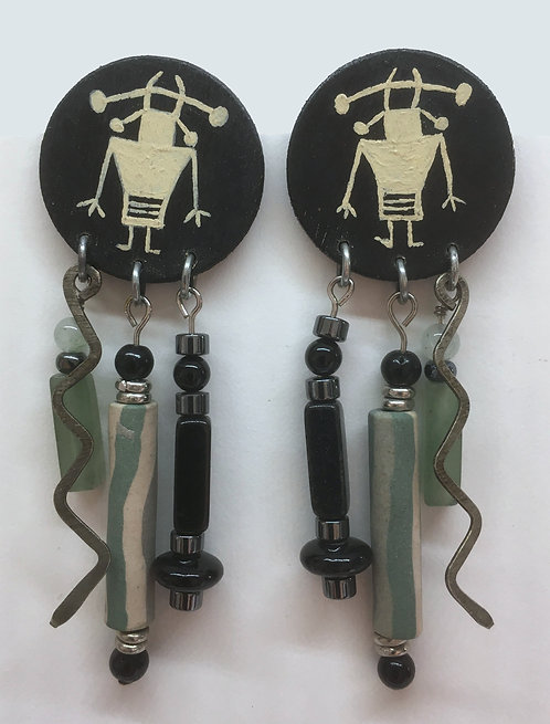 Corbett Supernatural Petroglyph Earrings and Pin