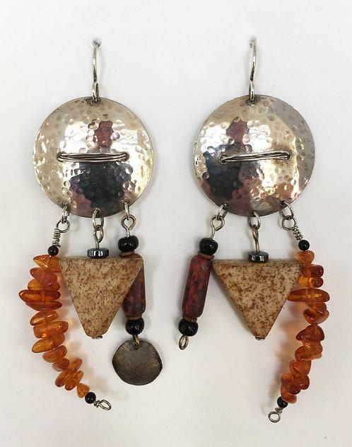 Corbett Sterling Silver Amber Earrings