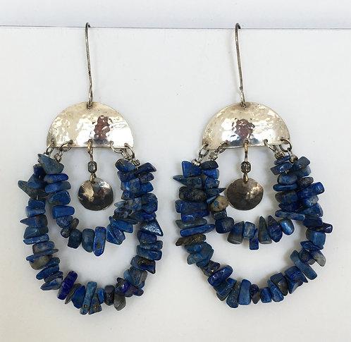 Corbett Sterling Silver and Lapis Earrings