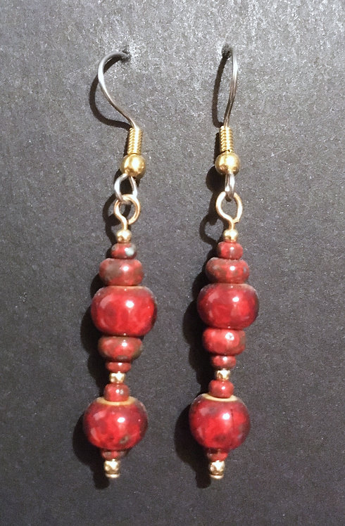 Galloway Czech Glass Earrings