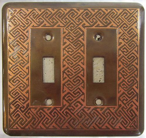 Loughran Double Switchplates - Greek Key