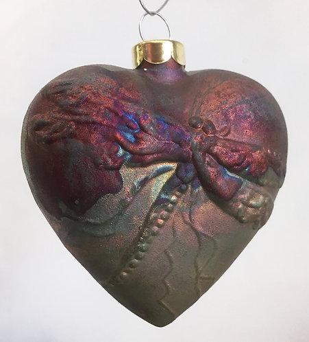 J. Davis Raku Heart Ornaments