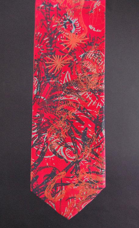 Jennythreads Silk Necktie - Red