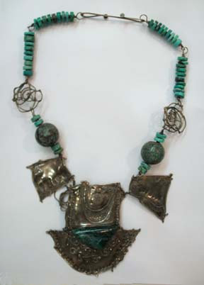McLain Sterling & Turquoise Necklace
