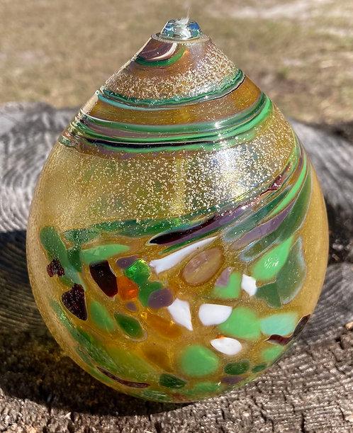 Eby Oil Candle - Green Swirl