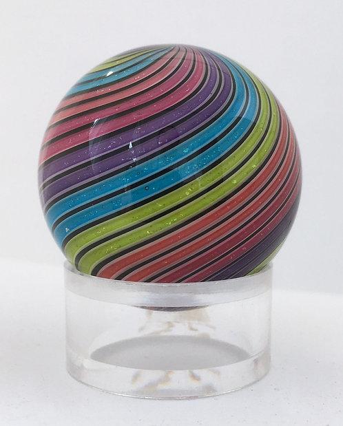 "Hot House Glass 1.25"" Dichroic Twist Marble"